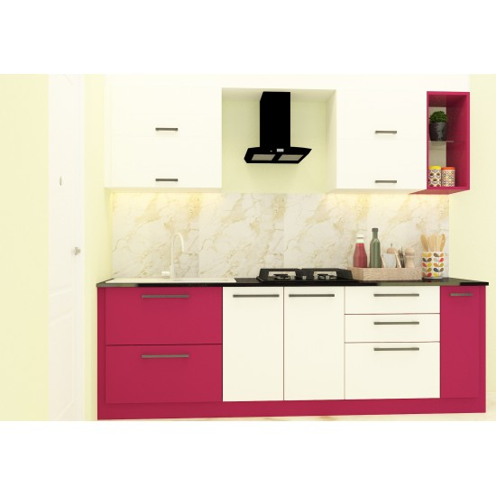 Aakil Parallel Shaped Kitchen with Laminate Finish