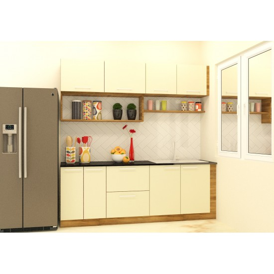 Aakav Parallel Shaped Kitchen with Laminate Finish