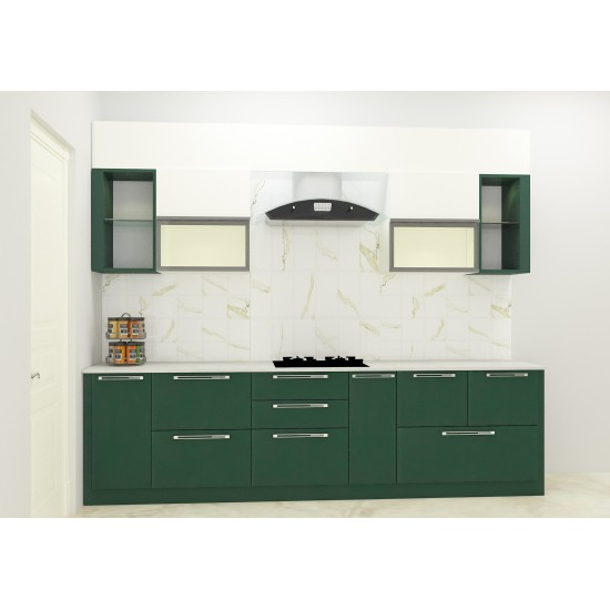 Abner Parallel Shaped Kitchen with Laminate Finish
