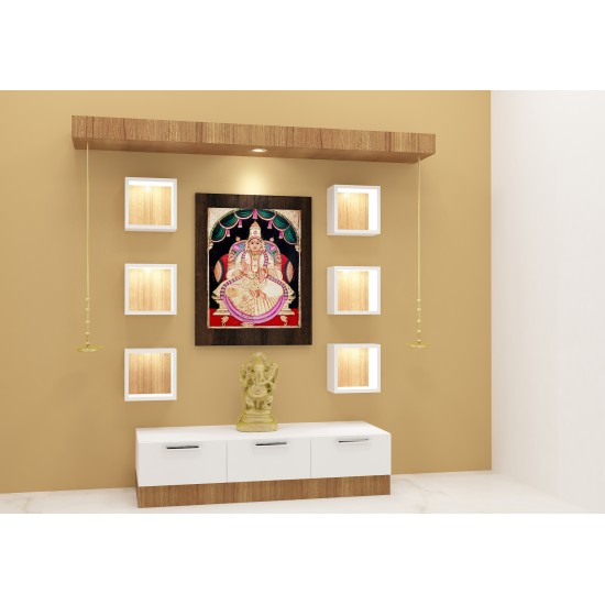 Calantha Puja Unit with Laminate Finish