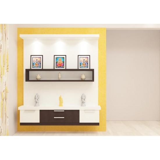 Powen Puja Unit with Laminate Finish
