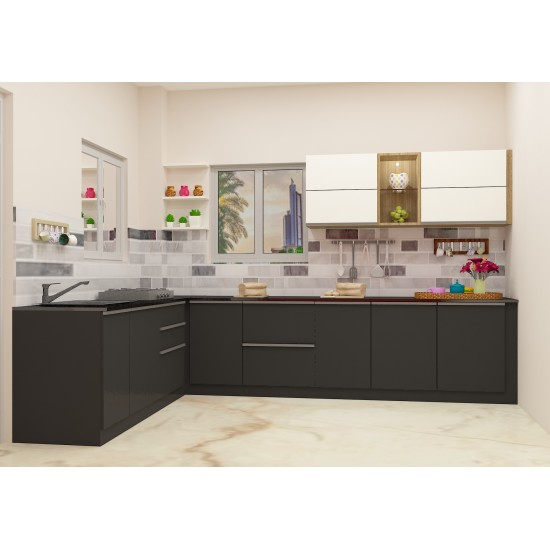 Aurora L-Shaped Kitchen with Laminate Finish