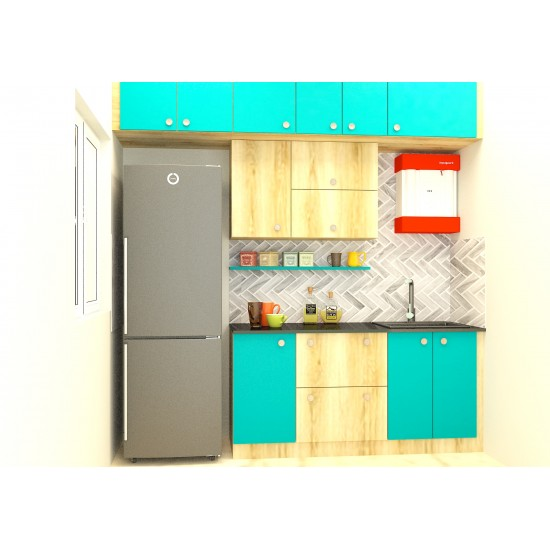 Ethan Parallel Kitchen with Laminate Finish