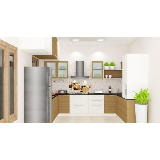 Scilla U - Shaped Kitchen with Laminate Finish