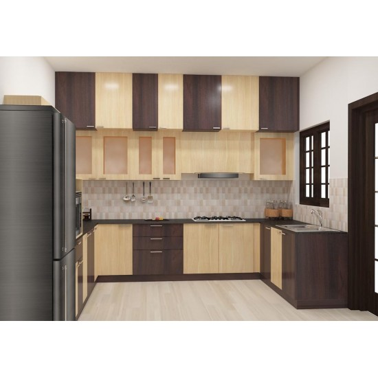 Zulia U - Shaped Kitchen with Laminate Finish