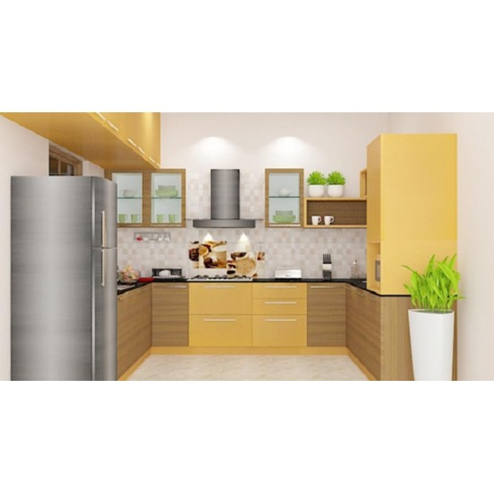 Lotus U - Shaped Kitchen with Laminate Finish