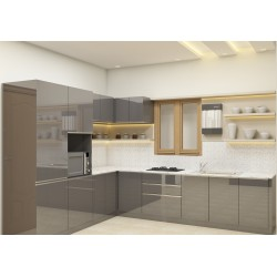 Aspen L - Shaped Kitchen with Laminate Finish