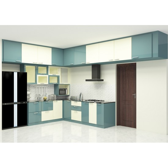 Grania L - Shaped Kitchen with Laminate Finish