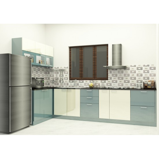 Kerensa L - Shaped Kitchen With Laminate Finish