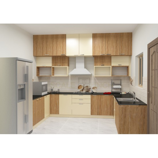 Filbert U - Shaped Kitchen with Laminate Finish