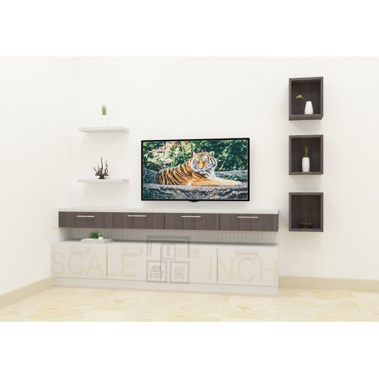 Salal Berry Tv Unit with Laminate Finish