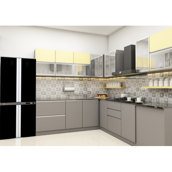 Noble L - Shaped Kitchen with Laminate Finish