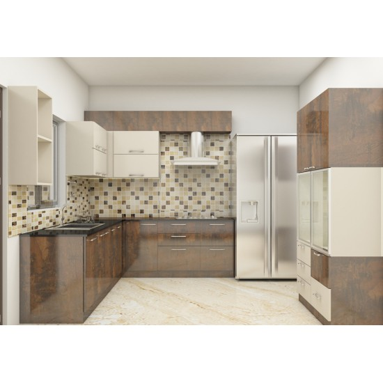 Opulus L - Shaped Kitchen with Laminate Finish