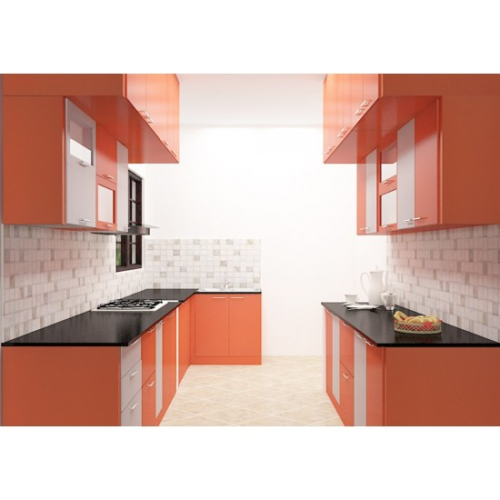 Asuncion Parallel Kitchen with Laminate Finish