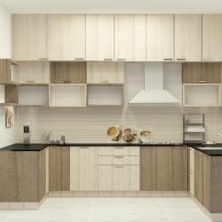 Melina U - Shaped Kitchen with Laminate Finish