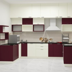 Quincy U - Shaped Kitchen with Laminate Finish