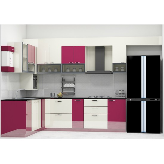Hebe L - Shaped Kitchen with Laminate Finish