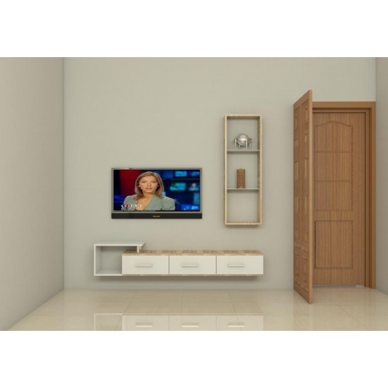 Rivulids TV Unit with Laminate Finish
