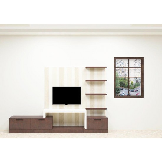 Floss Flower TV Unit with Laminate Finish