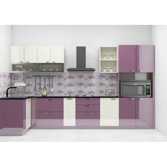 Moserose L - Shaped Kitchen with Laminate Finish