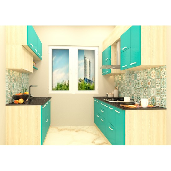 Aiden Parallel Shaped Kitchen with Laminate Finish