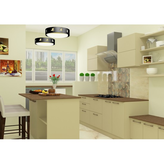 Adalyn Island Kitchen with Laminate Finish