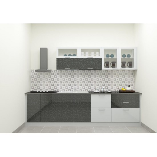 Gazeley Straight Kitchen with Laminate Finish