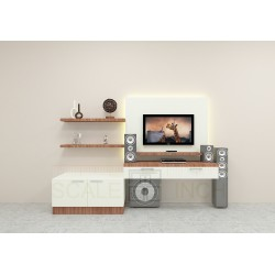 Apricot TV Unit with Laminate Finish