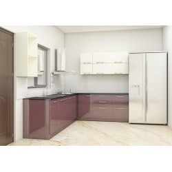 Bergamot L - Shaped Kitchen with Laminate Finish