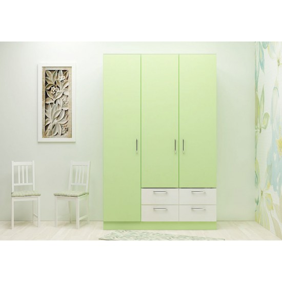 Mist Flower Wardrobe with Laminate Finish